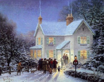 Evening Kurrende Thomas Kinkade kinder Ölgemälde
