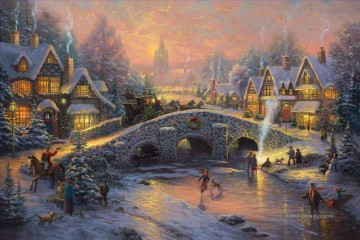 Spirit of Christmas Thomas Kinkade kinder Ölgemälde