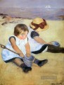 Children Playing On The Strand Impressionismus Mütter Kinder Mary Cassatt