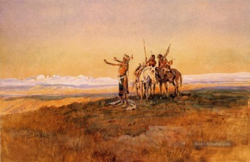 Indianer und Cowboy Werke - Invocation to the Sun Indians Charles Marion Russell Indianer