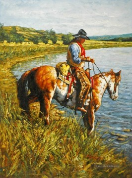 Indianer und Cowboy Werke - on the hayfield bank cowboy
