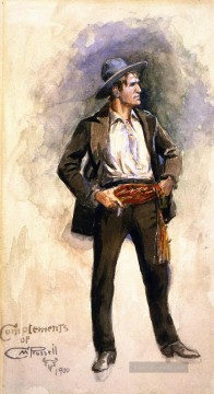 marion - Selbstporträt 1900 Charles Marion Russell Indiana Cowboy