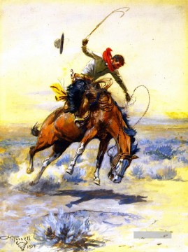 1904 Galerie - der bucker 1904 Charles Marion Russell Indiana Cowboy
