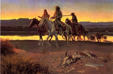 Cowboy Kunst - Carsons Männer Cowboy Charles Marion Russell Indianer