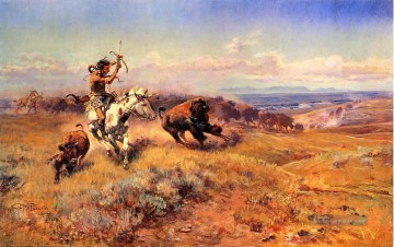 Indianer und Cowboy Werke - Pferd of the Hunter aka Fresh Meat Indians Charles Marion Russell Indianer
