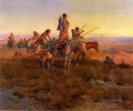 Im Zuge der Buffalo Hunters Indianer Charles Marion Russell Indianer