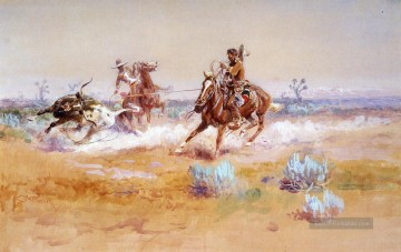 Cowboy Kunst - Cowboy Mexiko Charles Marion Russell Indianer