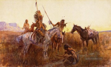 The Lost Trail Indianer Charles Marion Russell Indianer Ölgemälde