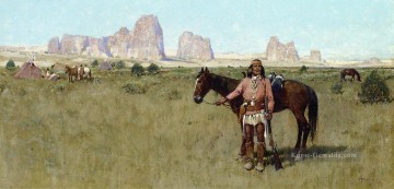 Indianer und Cowboy Werke - Warrior and Teepees west Indian Ureinwohner Amerikas Henry Farny