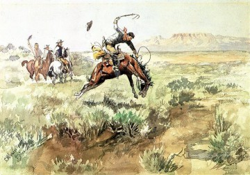 marion - Bronco sprengt 1895 Charles Marion Russell Indiana Cowboy