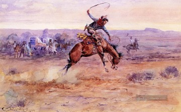 marion - sträubendes wildes Pferd 1899 Charles Marion Russell Indiana Cowboy