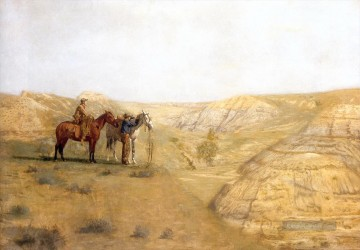 Indianer und Cowboy Werke - cowboys in the bad lands 1888