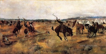 Cowboy Kunst - brechend Camp Cowboy Charles Marion Russell Indianer