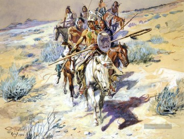 Indianer und Cowboy Werke - Return of the Warriors Indians Charles Marion Russell Indianer