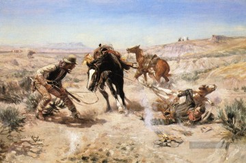 Indianer und Cowboy Werke - The Cinch Ring cowboy Charles Marion Russell Indianer