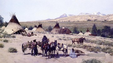 Indianer und Cowboy Werke - Among the Foothills west Indian Ureinwohner Amerikas Henry Farny