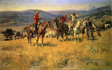 Cowboy Kunst - Wenn Law stumpft die Edge of Chance Cowboy Charles Marion Russell Indianer