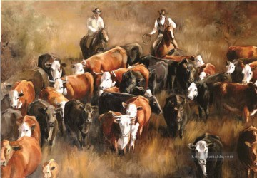 Indianer und Cowboy Werke - Cattle Drive by cowboys