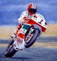 foggy motorcycle impressionist