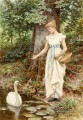 Country Girl von Henry James Johnstone Britische 02 Impressionist