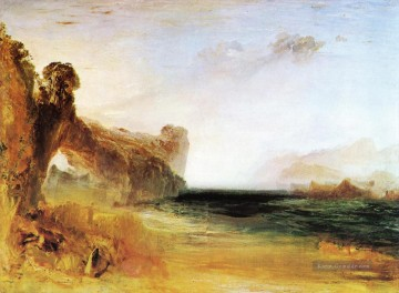 Strand Werke - Rocky Bay with Figures Romantische Landschaft Joseph Mallord William Turner Beach