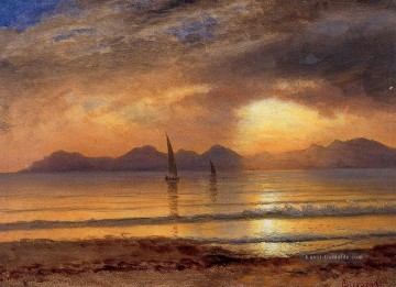 Strand Werke - Sunset over a Berg Lake Albert Bierstadt Beach
