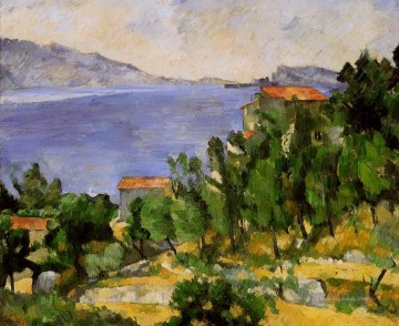 Strand Werke - The Bay of L Estaque from the East Paul Cezanne Beach
