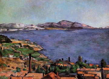 Strand Werke - The Gulf of Marseille Seen from LEstaque Paul Cezanne Beach
