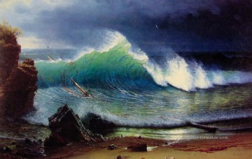 Strand Werke - The Shore of the TurquoiseSea luminism Seestück Albert Bierstadt Beach