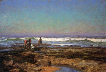Strand Werke - Clam Diggers Impressionist Indiana Landschaften Theodore Clement Steele Strand