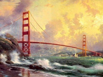 Strand Werke - Golden Gate Bridge San Fra Thomas Kinkade Strand