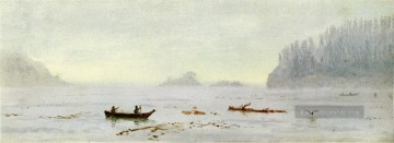 Strand Werke - Indian Fisherman luminism Seestück Albert Bierstadt Beach