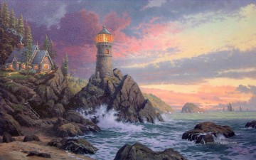 Rock Of Salvation Thomas Kinkade Strand Ölgemälde