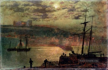 Strand Werke - Whitby From Scotch Head Stadtlandschaften Landschaft John Atkinson Grimshaw Beach