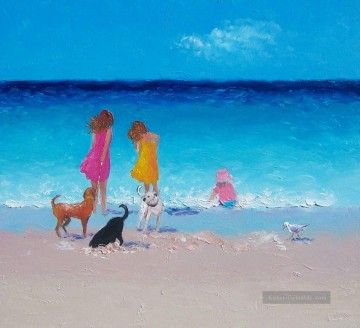 Strand Werke - girls and Hunde at beach