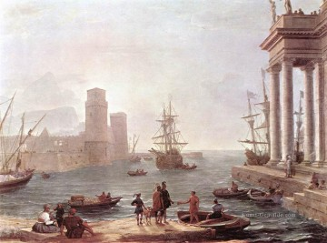 Strand Werke - Departure of Ulysses from the Land of the Feaci Landschaft Claude Lorrain Beach