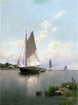 Blue Point Long Island modernes Boot Alfred Thompson Bricher Ölgemälde
