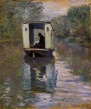 monet seerosen Ölbilder verkaufen - The Studio Boat Claude Monet