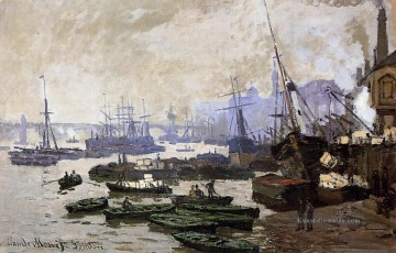 monet seerosen Ölbilder verkaufen - Boats in the Port of London Claude Monet