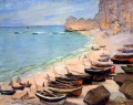 Boats on the Strand at Etretat Claude Monet
