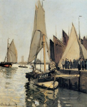 monet seerosen Ölbilder verkaufen - Sailing Boats at Honfleur Claude Monet