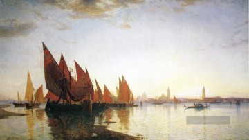 Venedig Seestück Boot William Stanley Haseltine Ölgemälde