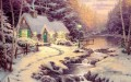 Evening Glow Thomas Kinkade Landschaft Strom