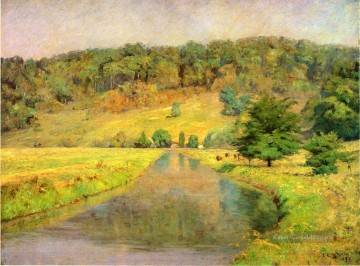 Hill Kunst - Gordon Hill Impressionist Indiana Landschaften Theodore Clement Steele Fluss