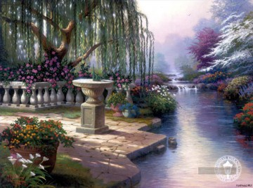 Hour of Prayer Thomas Kinkade Landschaft Strom Ölgemälde