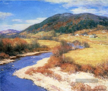 Summer Künstler - Indian Sommer Vermont Szenerie Willard Leroy Metcalf Landschaft Strom