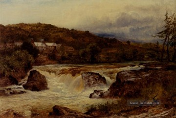 Near Bettws Y Coed der Kreuzung der Conway And The Llugwy Landschaft Benjamin Williams Leader Landschaft Strom Ölgemälde