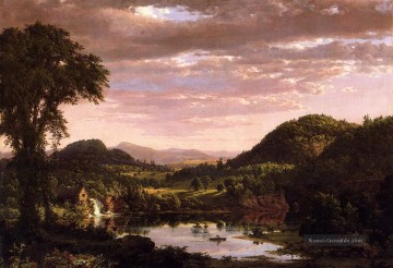 New England Landschaft aka Evening after a Storm Landschaft Hudson Fluss Frederic Edwin Church