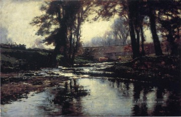 Landschaften Maler - Pleasant Run Impressionist Indiana Landschaften Theodore Clement Steele Fluss