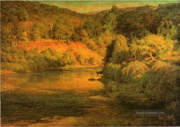 Die Ebb Tages aka The Bank Landschaft John Ottis Adams Fluss Ölgemälde